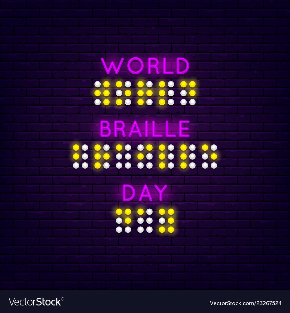 World braille day poster