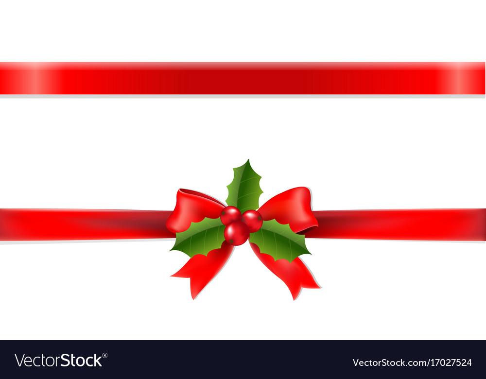 Xmas ribbon vector image