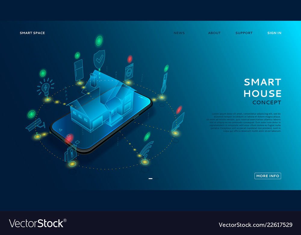Concept of smart house with iot