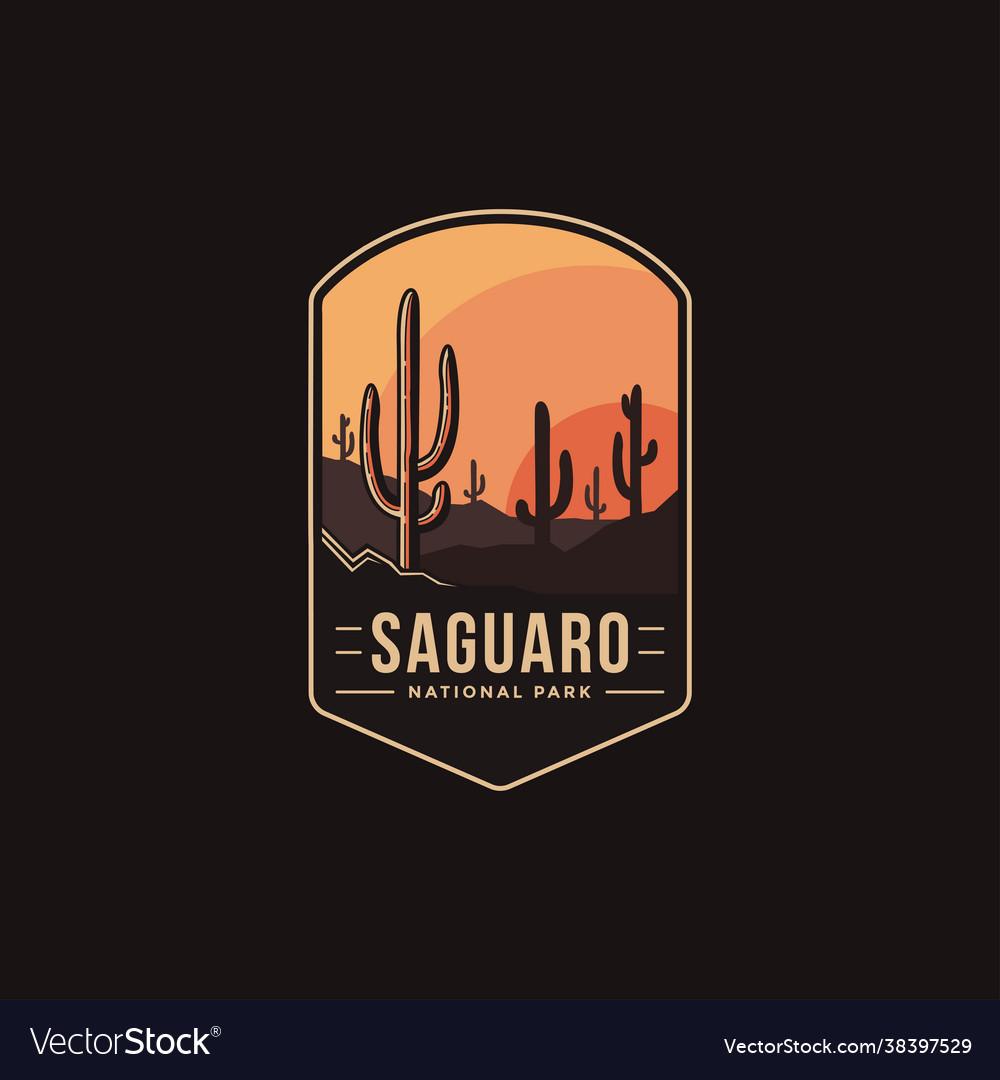 Emblem patch logo saguaro national park