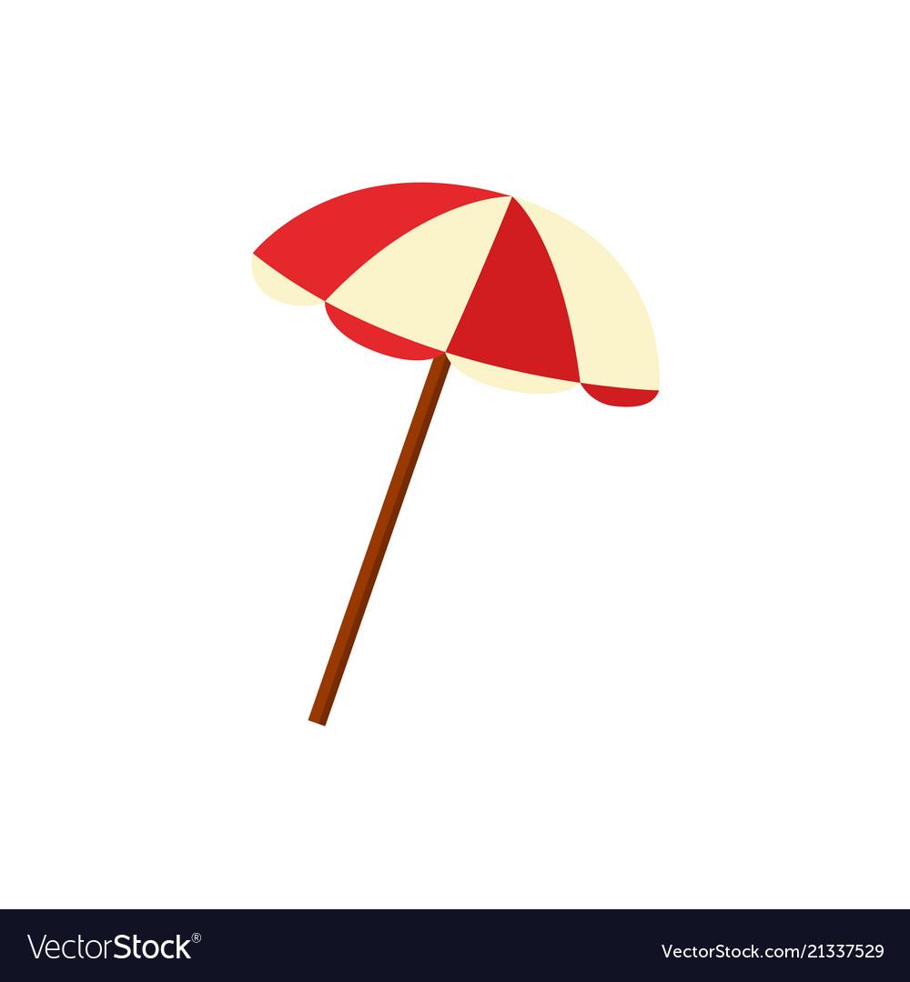 Flat beach sun umbrella icon