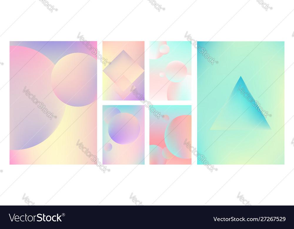 Gradient holographic set