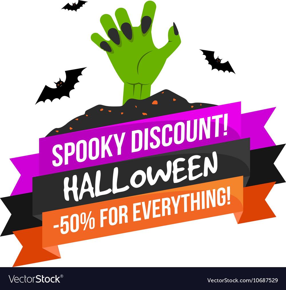 Halloween Sale Logo or Label