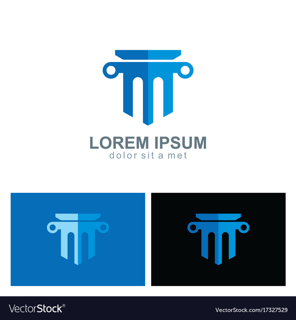 Law firm building company logo