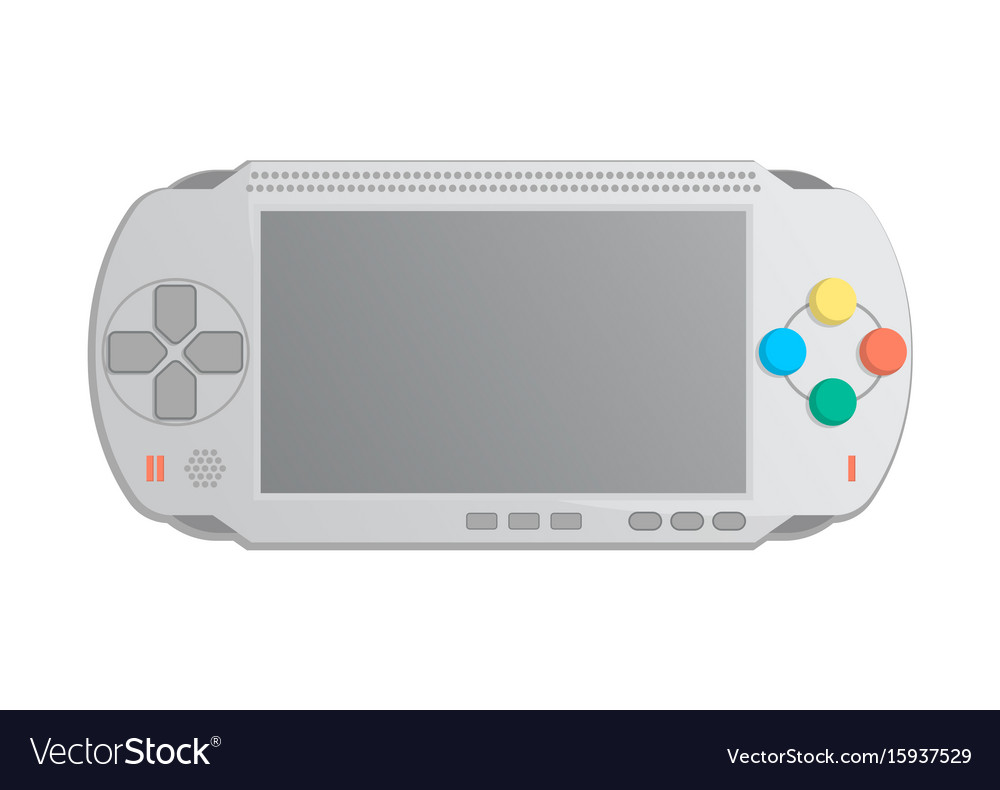 Mobile game console icon in cartoon style