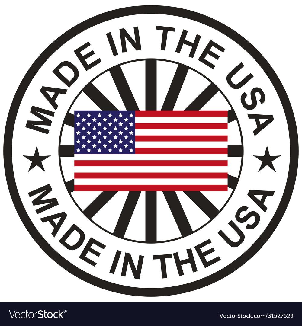 Stamp with flag usa made