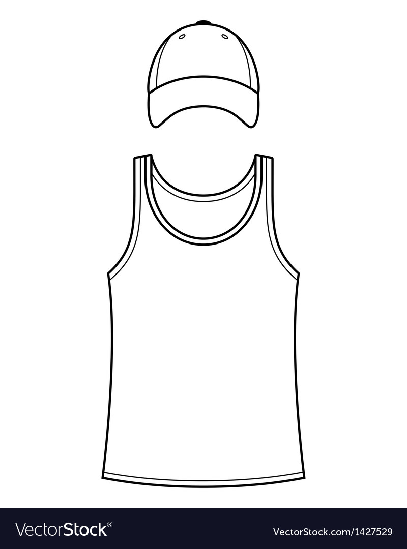 T-shirt Singlet and Caps template