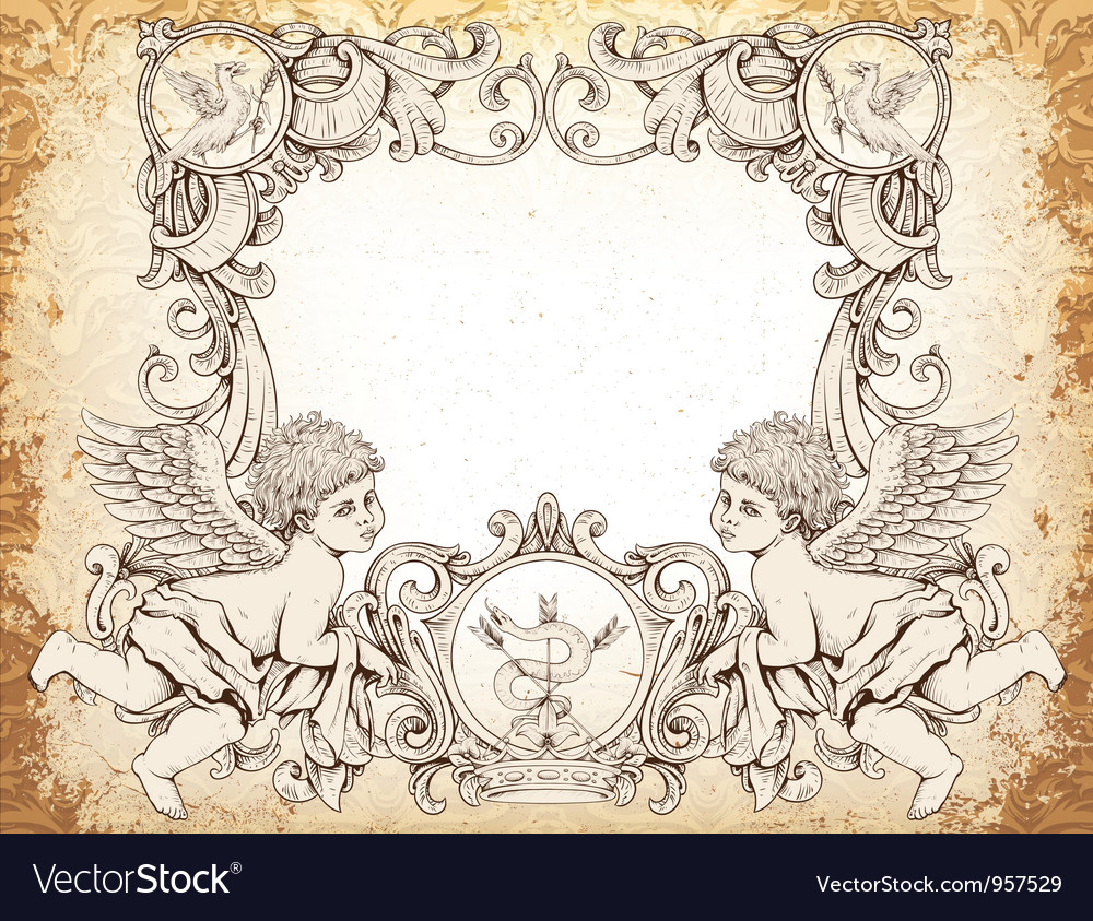 Victorian frame with angels