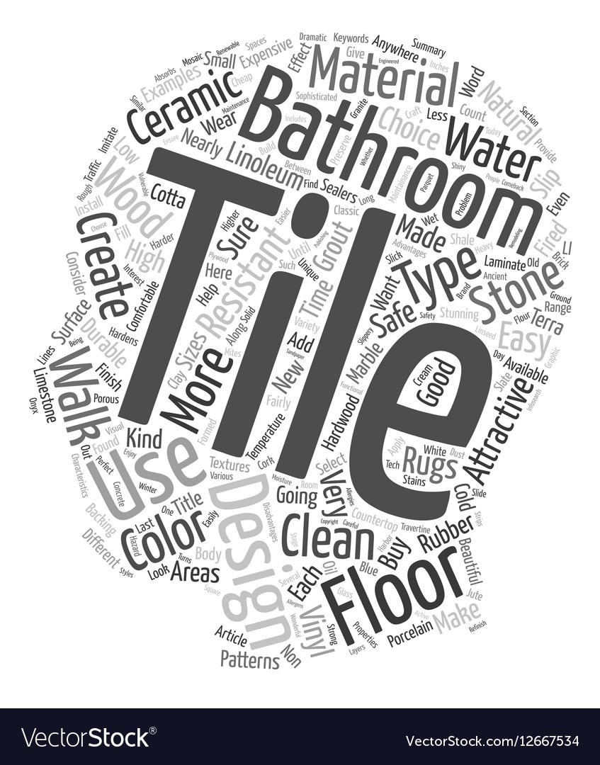 Bathroom Tile Design Material Types For Bathroom Vector Image
