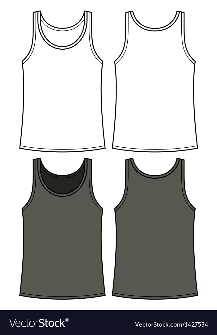 Black and white singlet template royalty free vector image black and white singlet template vector image maxwellsz