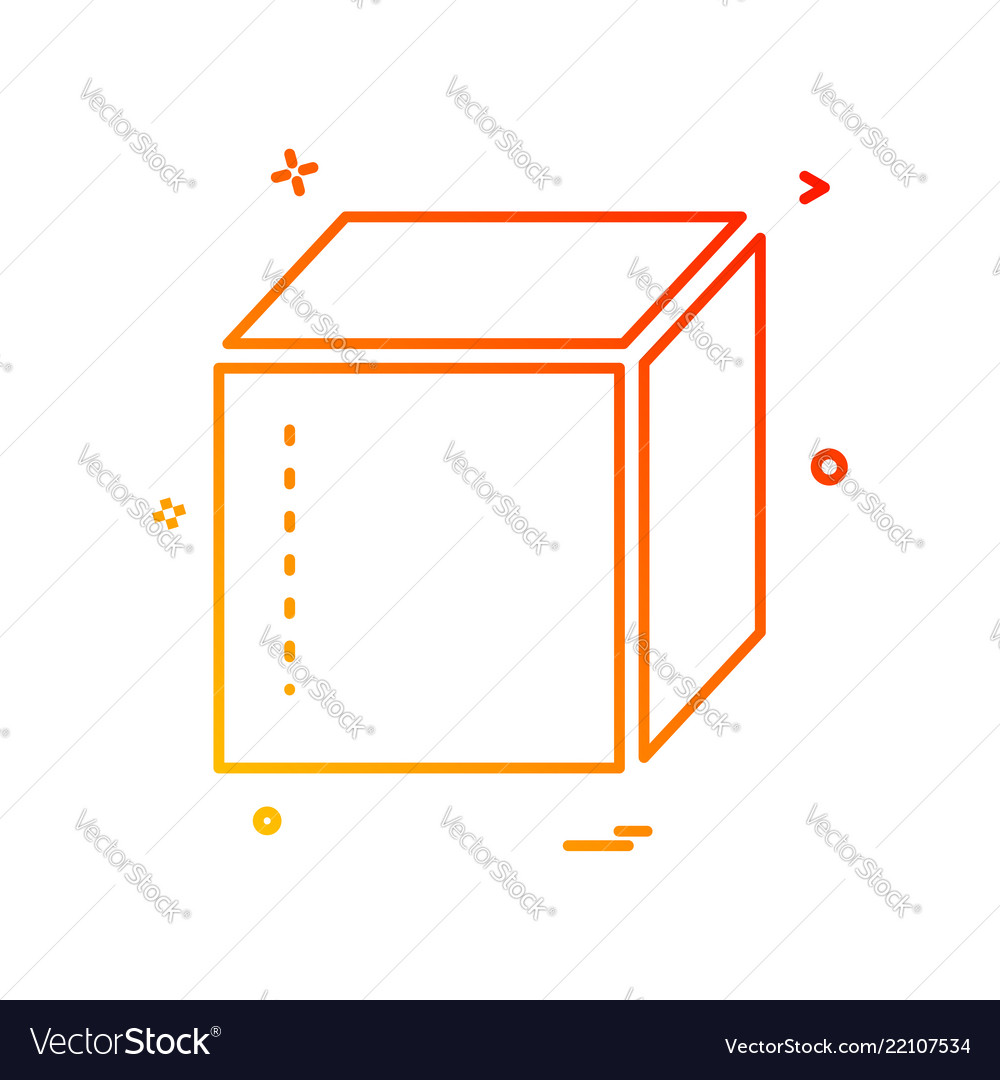 Box delivery closed icon design