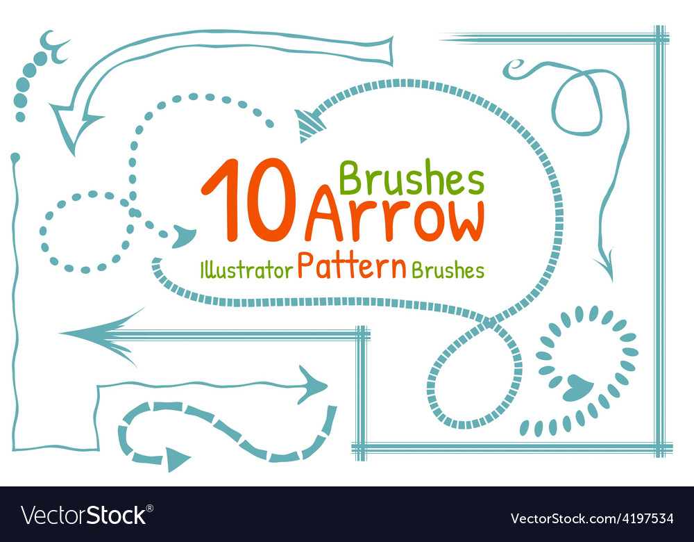 Brushes set with arrows