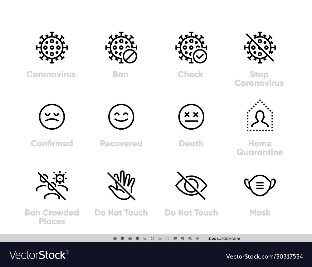 Coronavirus icon set for infographics or