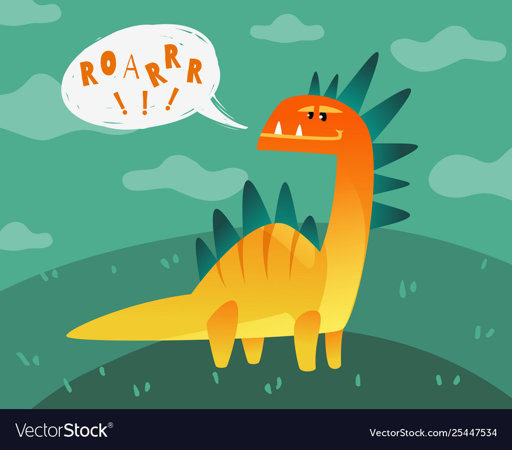 Dinosaur poster cute dino funny monsters kids