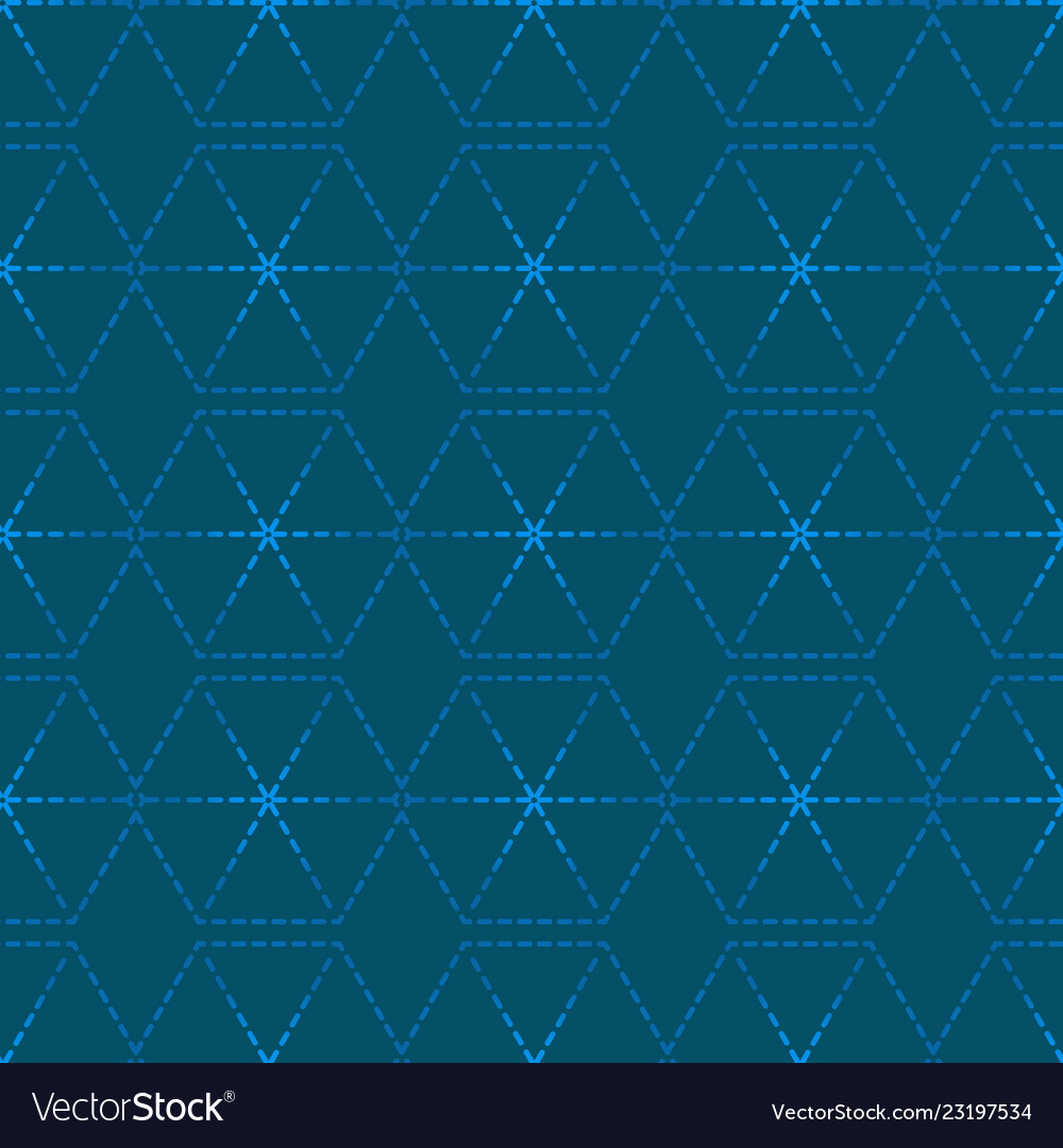 Dotted line geometric hexagon seamless pattern