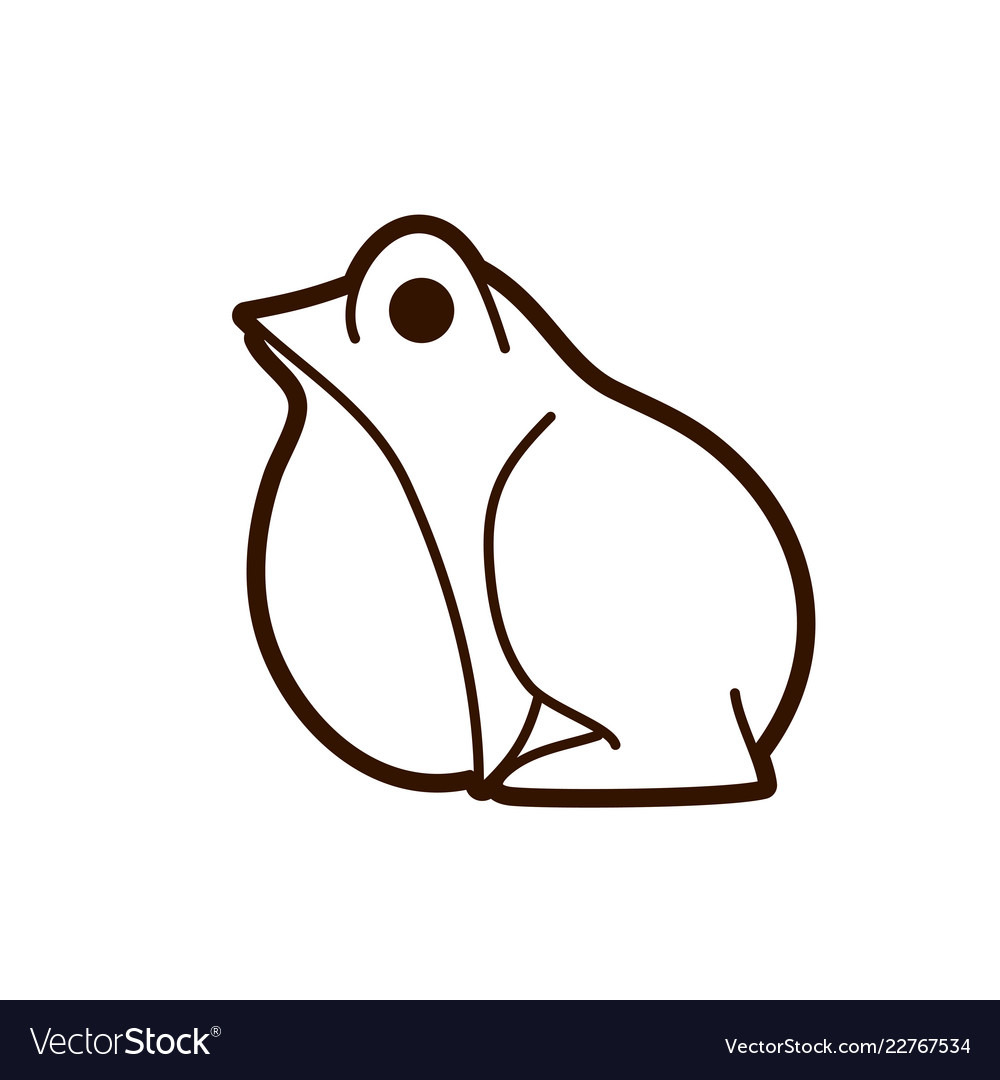 Frog side view cartoon graphic
