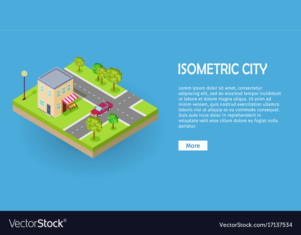 Isometric icon of two storey grocery shop web vector image