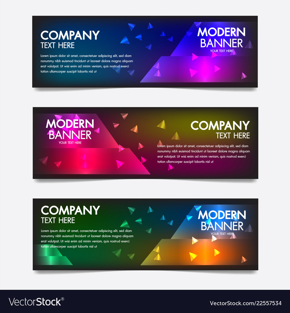 Neon banners poster retro styledesignabstract