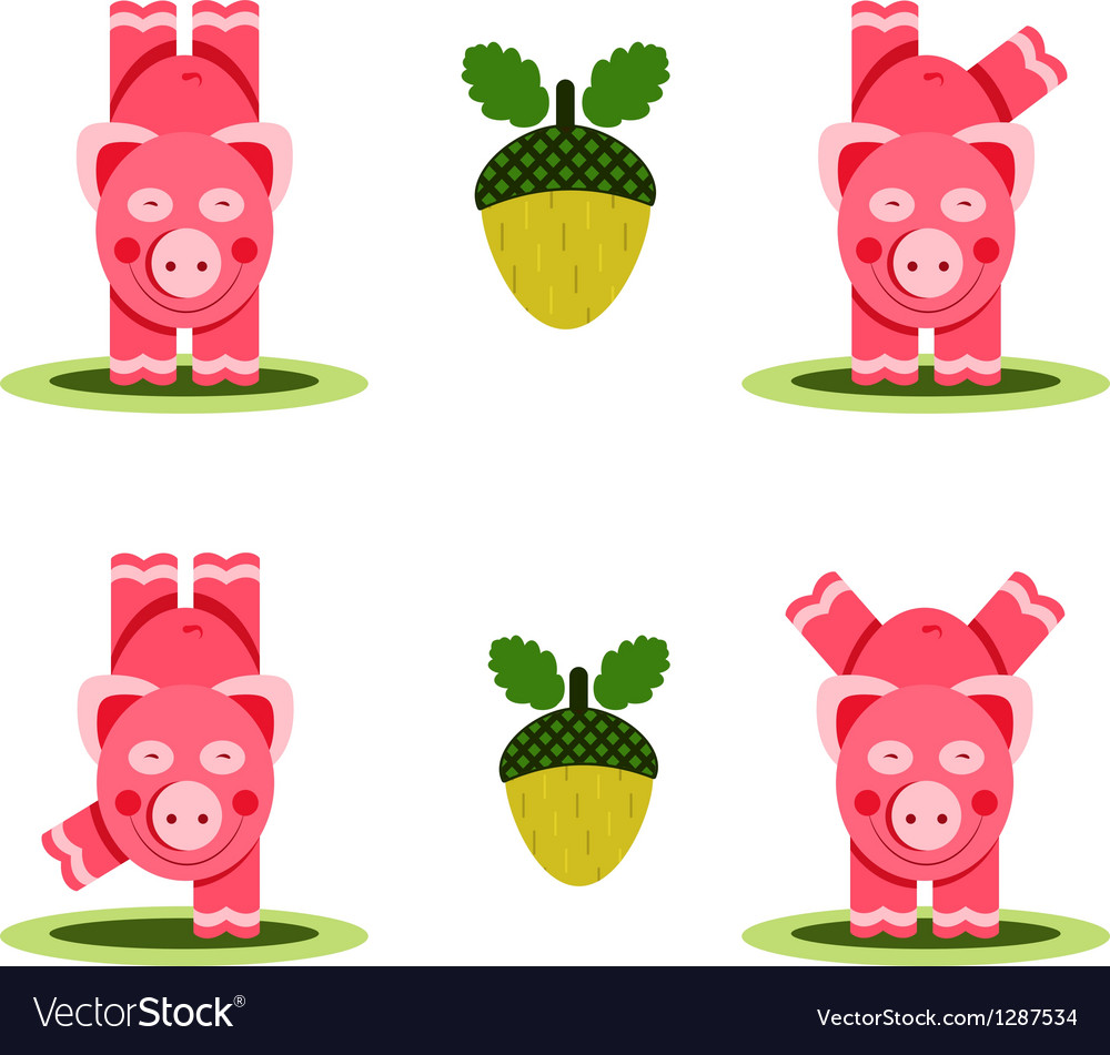 Small Pigs Playing vector image