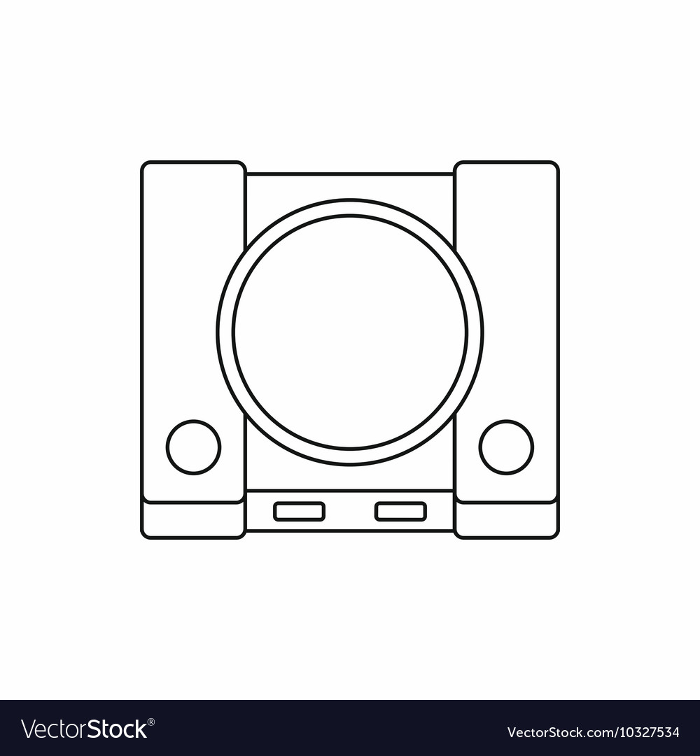 Video game console icon outline style vector image