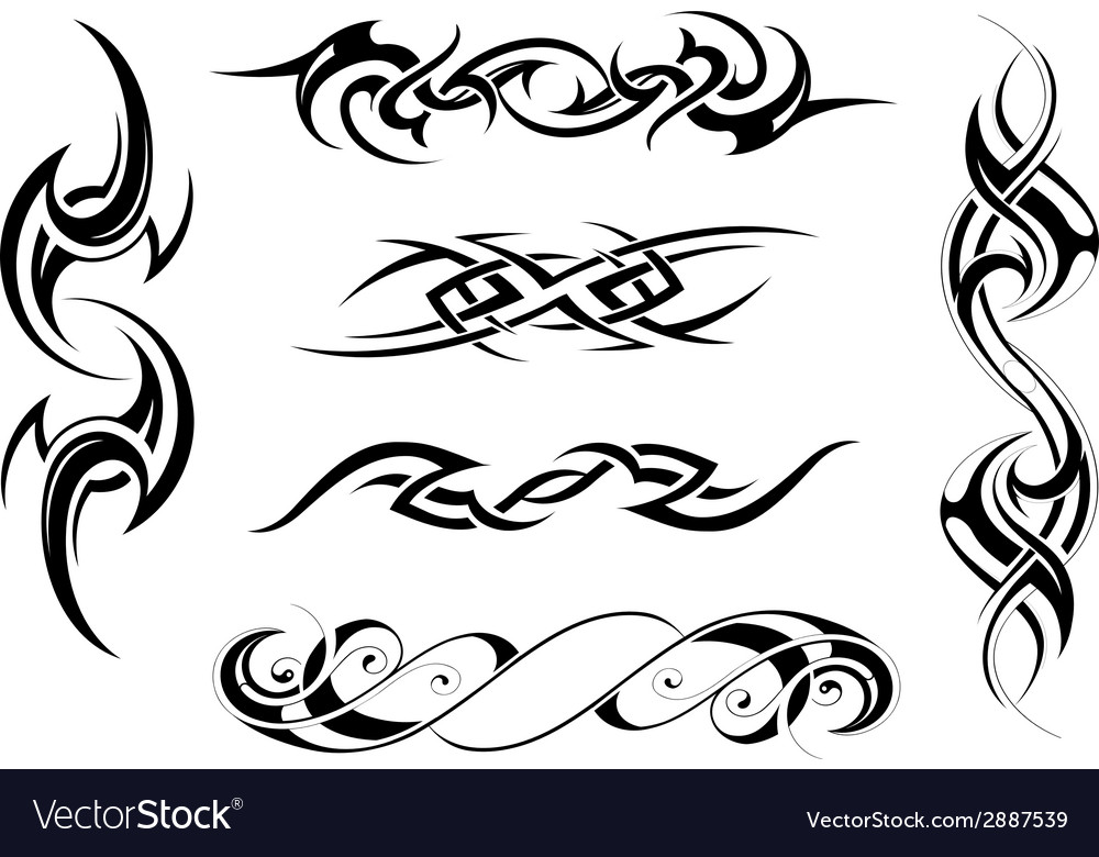 Body Art Tattoo Royalty Free Vector Image Vectorstock