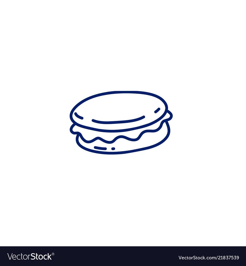 Doodle macaron icon