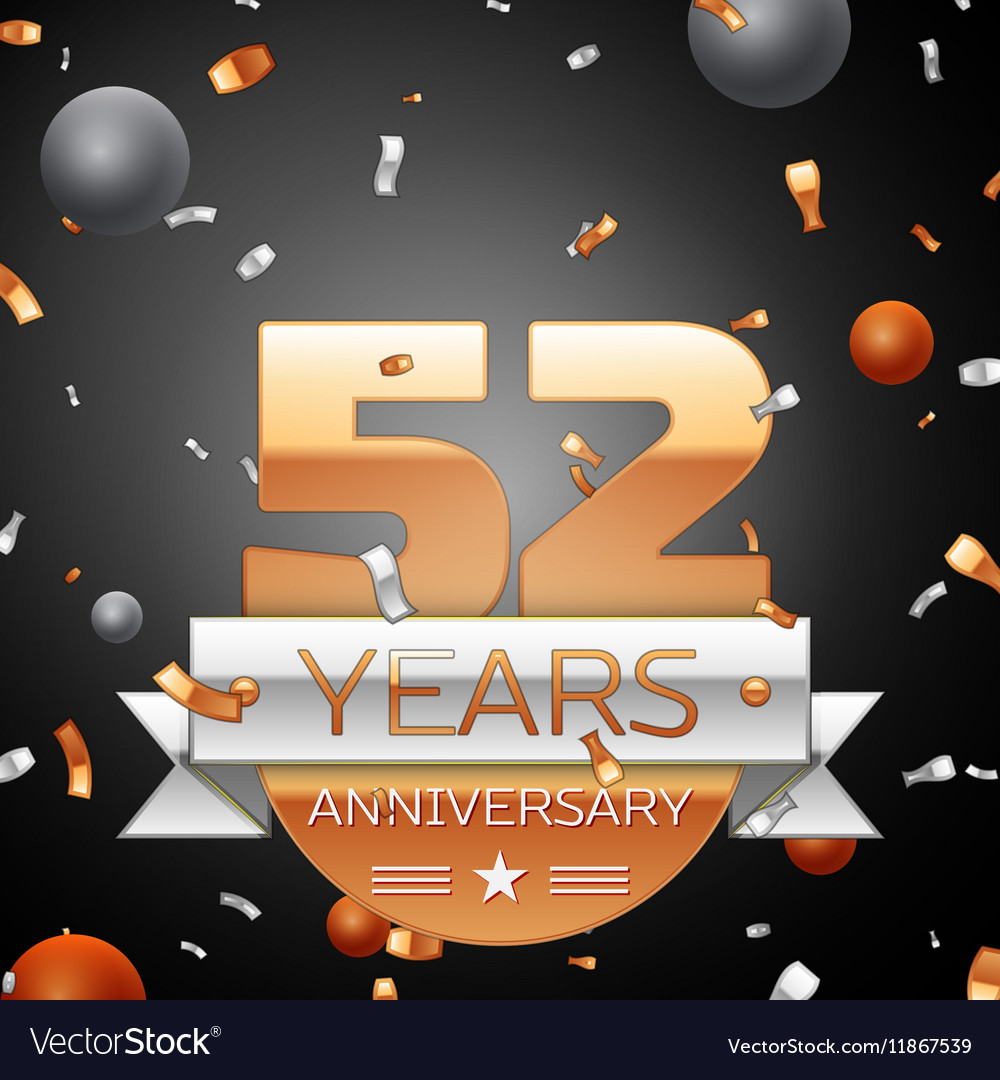Fifty two years anniversary celebration background