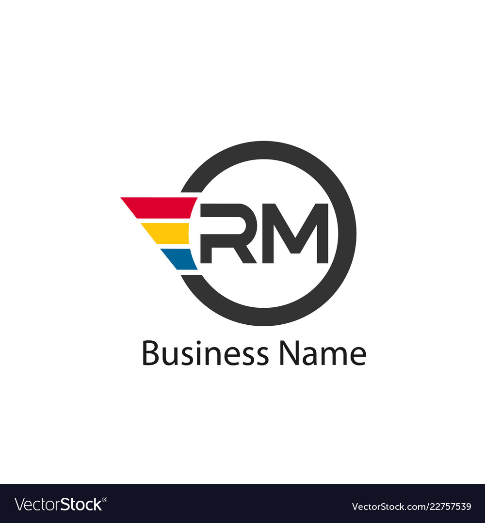 initial letter rm logo template design royalty free vector vectorstock