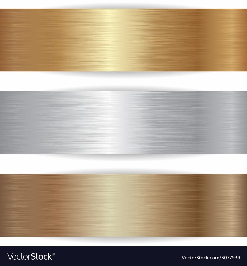Metallic banners