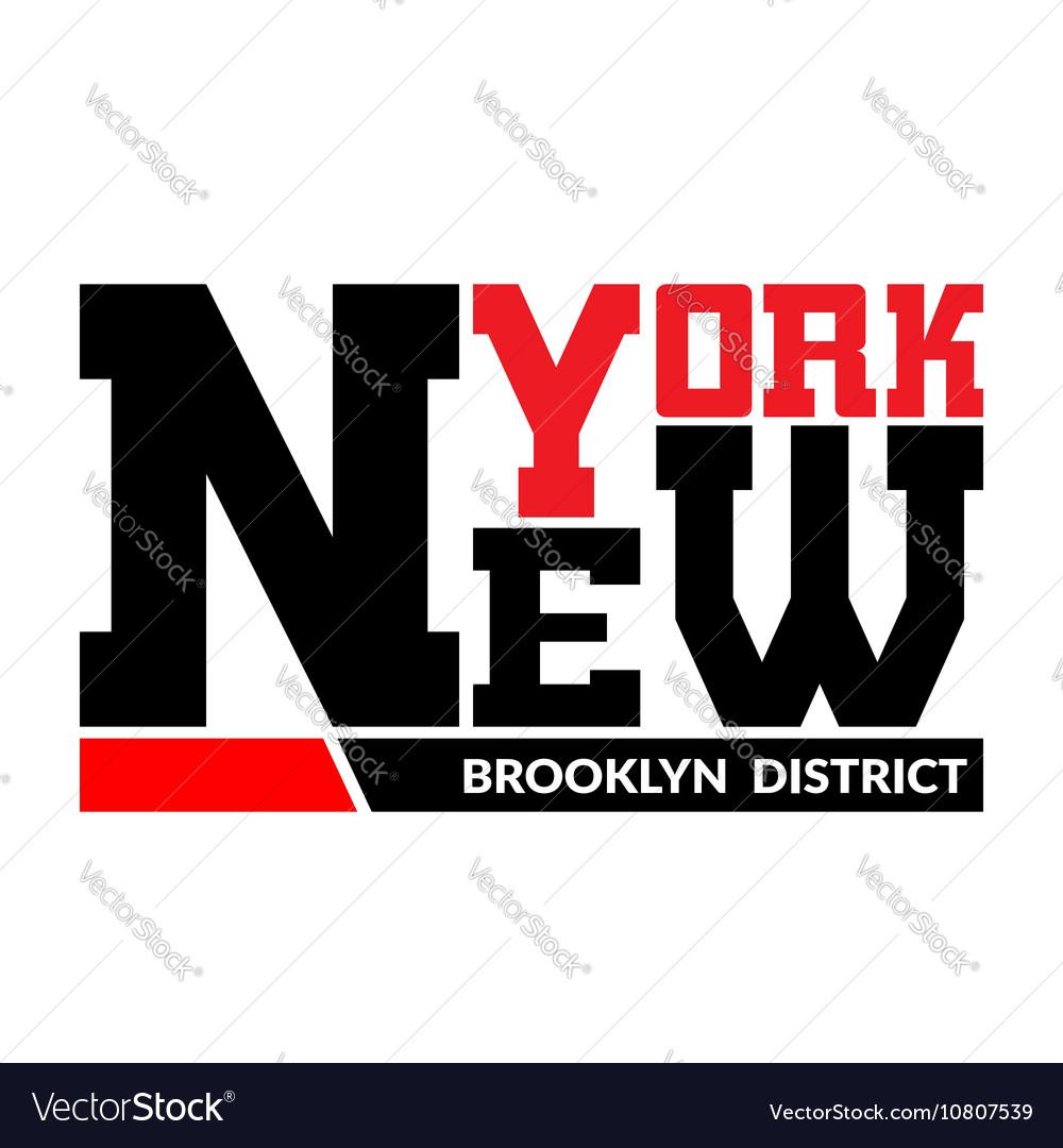 T shirt typography graphic New York Brooklyn