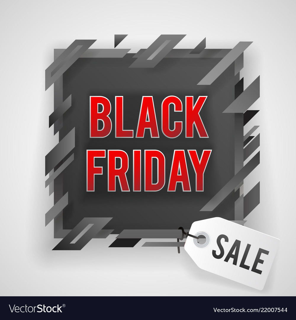 Abstract black friday sale tag shop banner