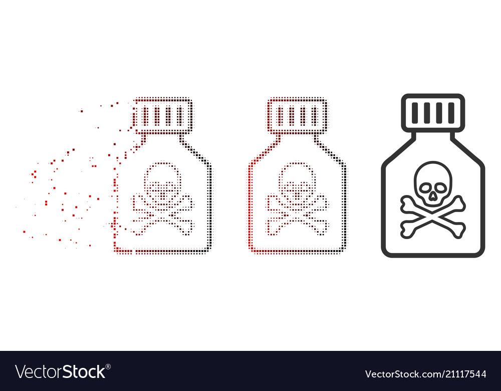 Dispersed pixel halftone toxic vial icon