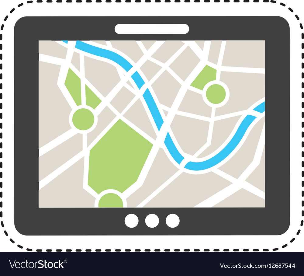 Gps service isolated icon