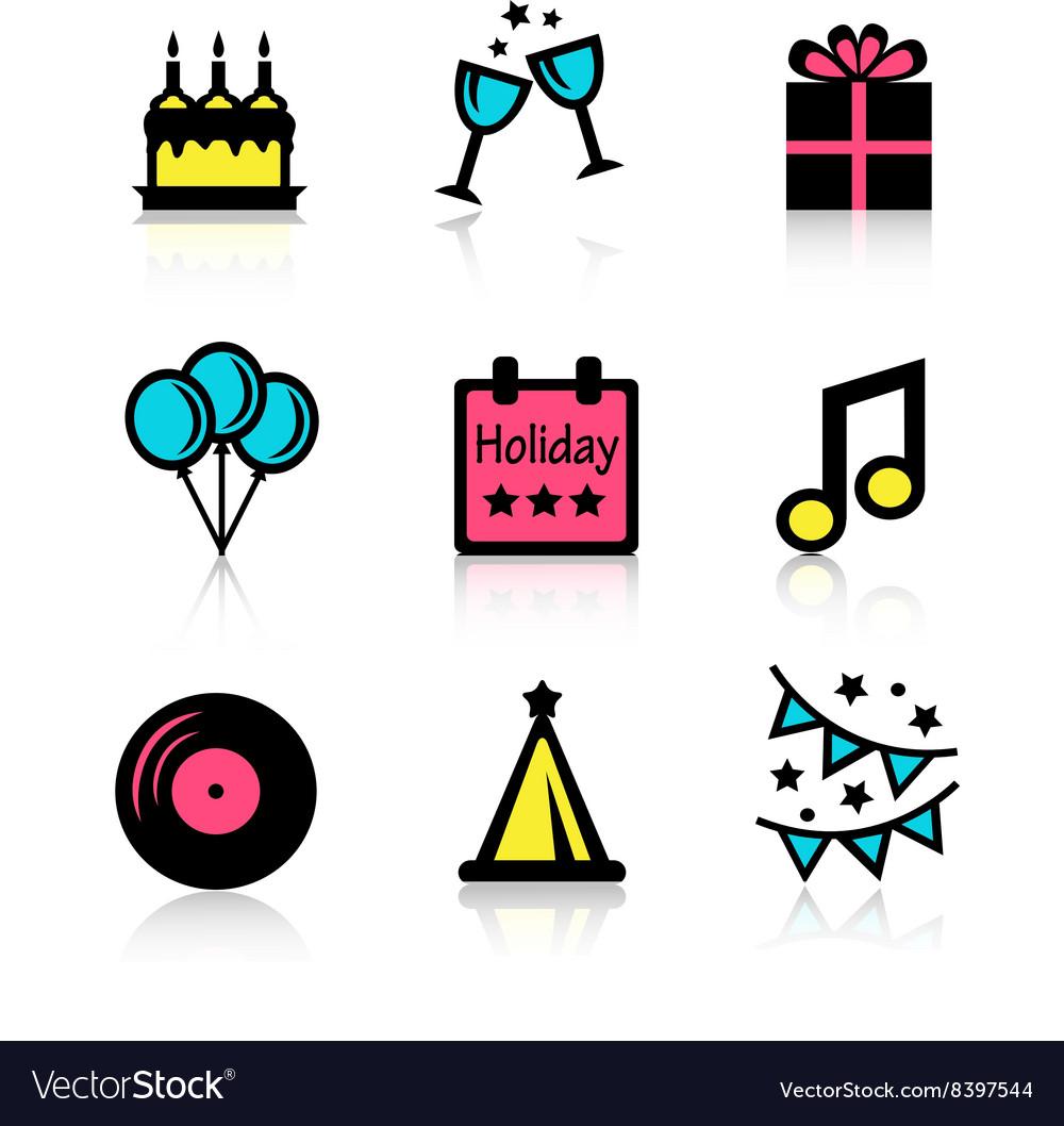 Holidays icons set vector image