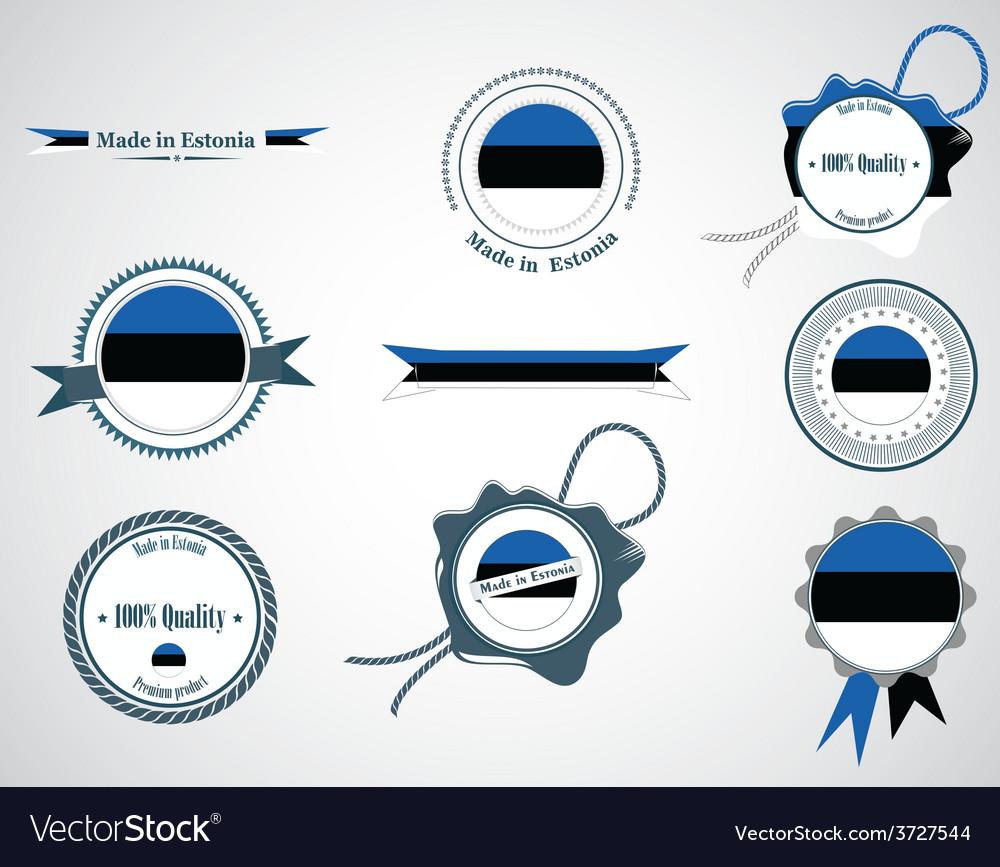 Made in Estonia - set of seals badges