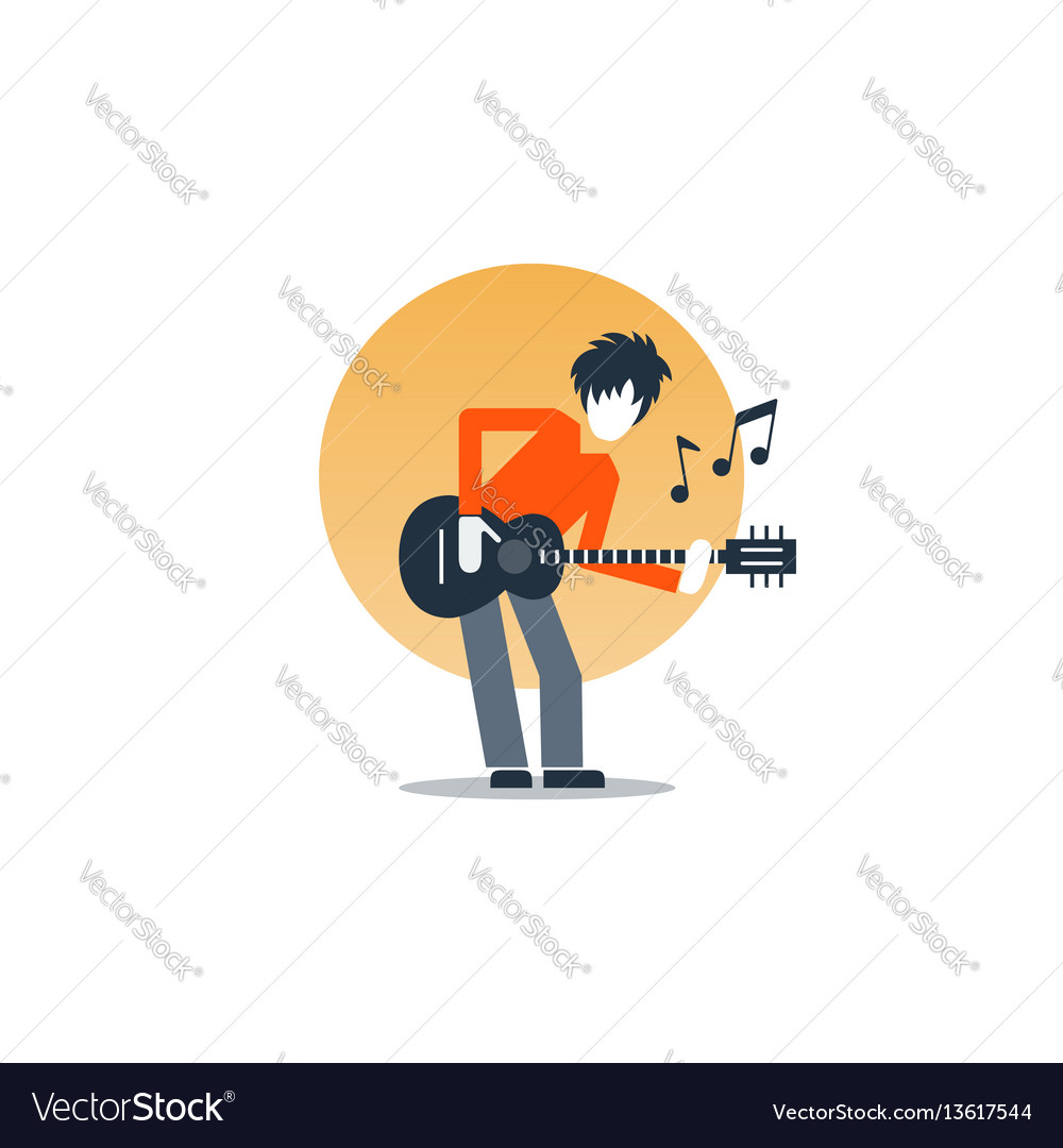 Person playing guitar music entertainment live