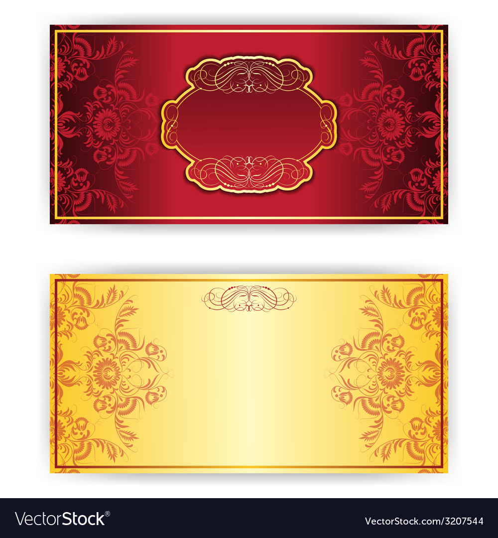Royal invitation card with frame Royalty Free Vector Image