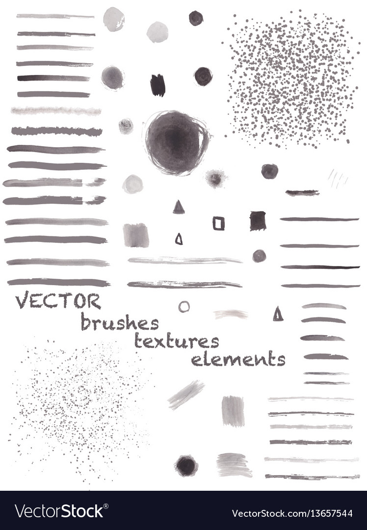 Set of different brushes