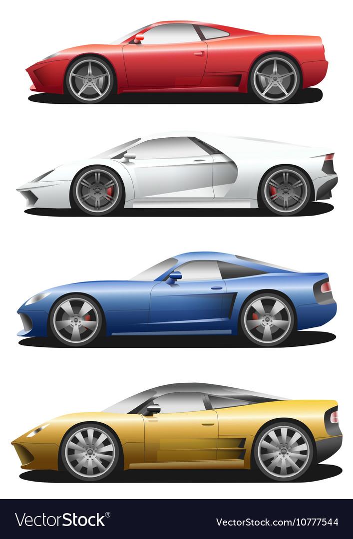 Set of sport cars