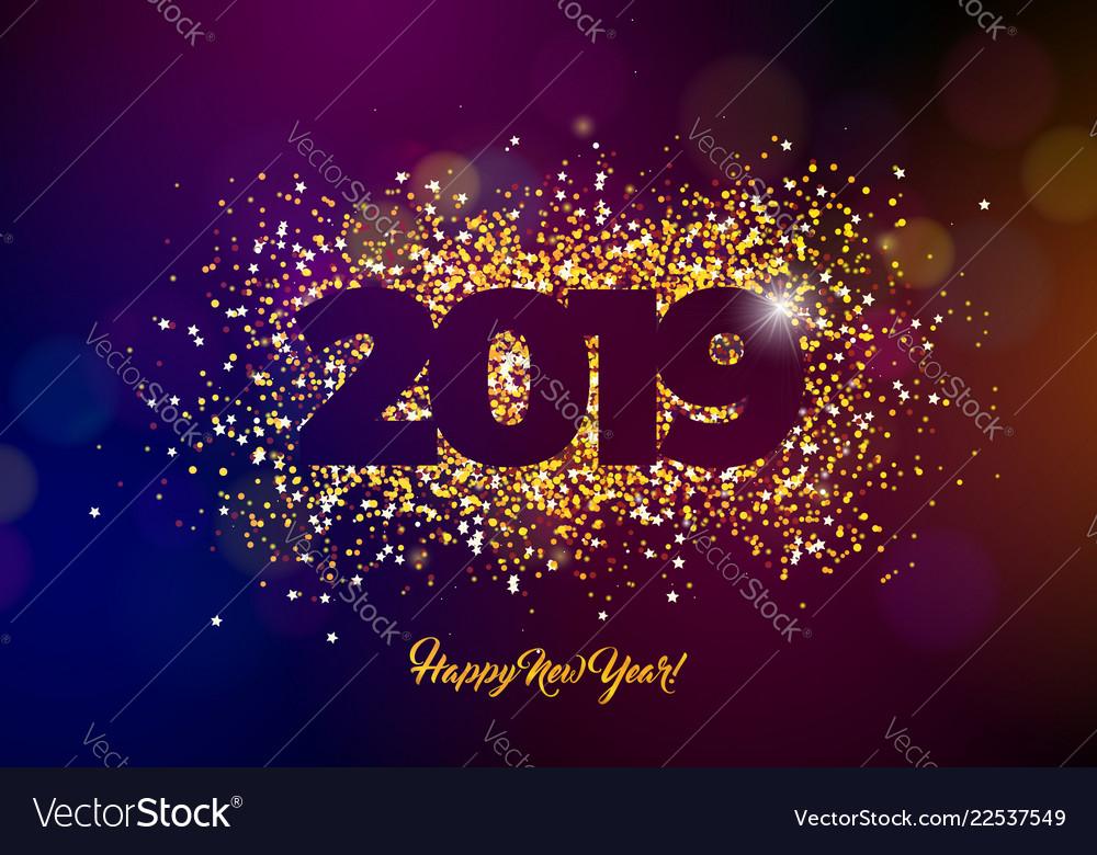 2019 happy new year with shiny