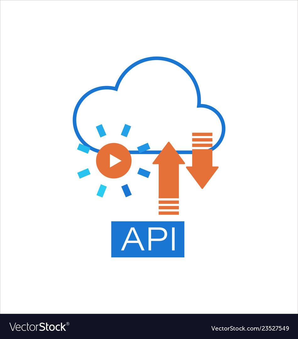 Cloud api software integration icon