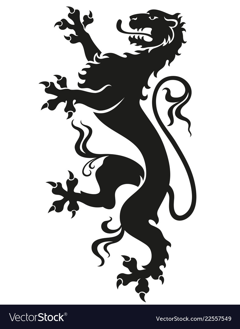 Heraldic leopard lion