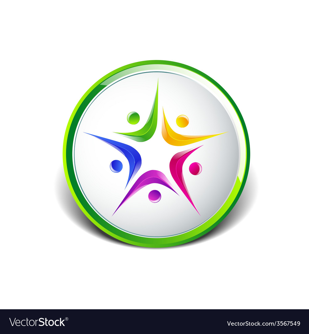 People five logo template icon vector image