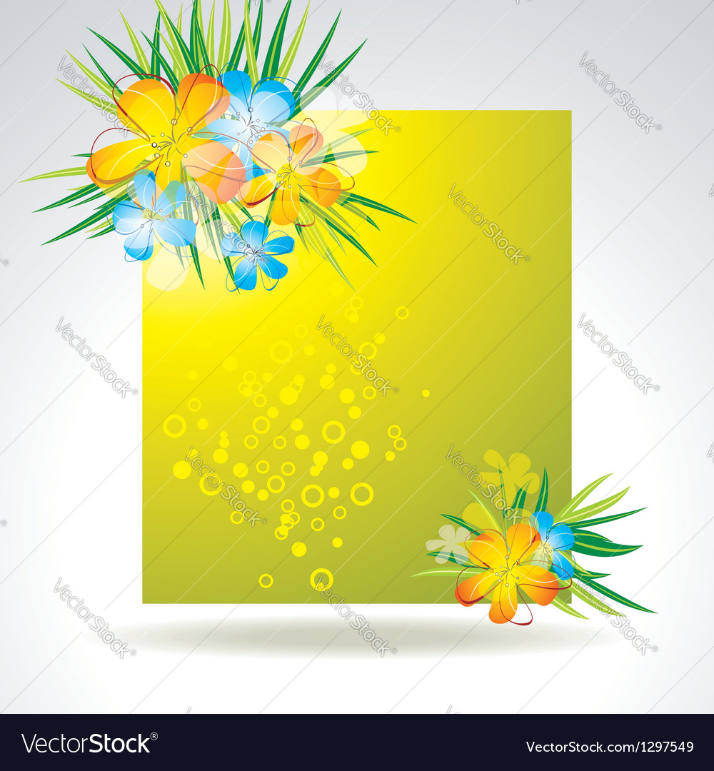 Set of colorful flower in banner