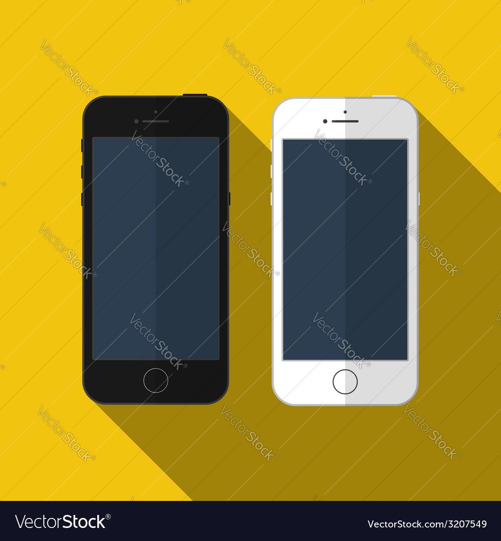 Smartphone similar to iphone mockup vector image