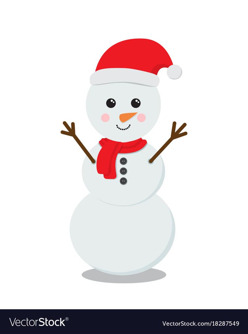 Snowman cartoon character