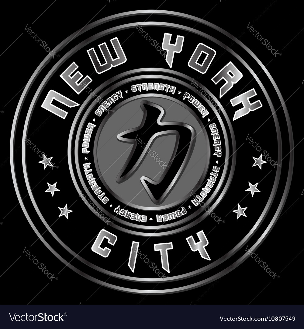 T shirt New York Character Power Force