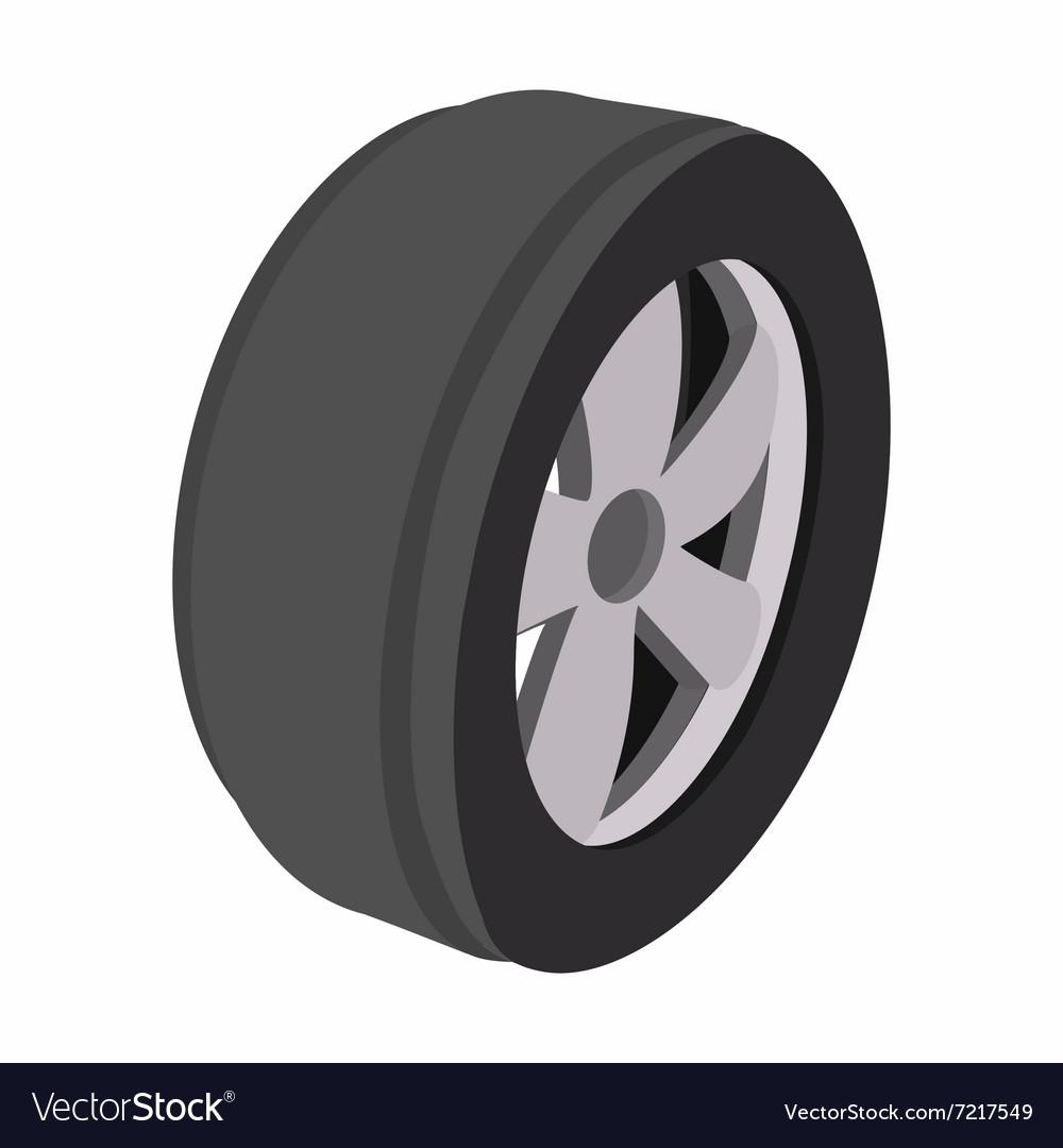 Wheel Cartoon Royalty Free Vector Image Vectorstock