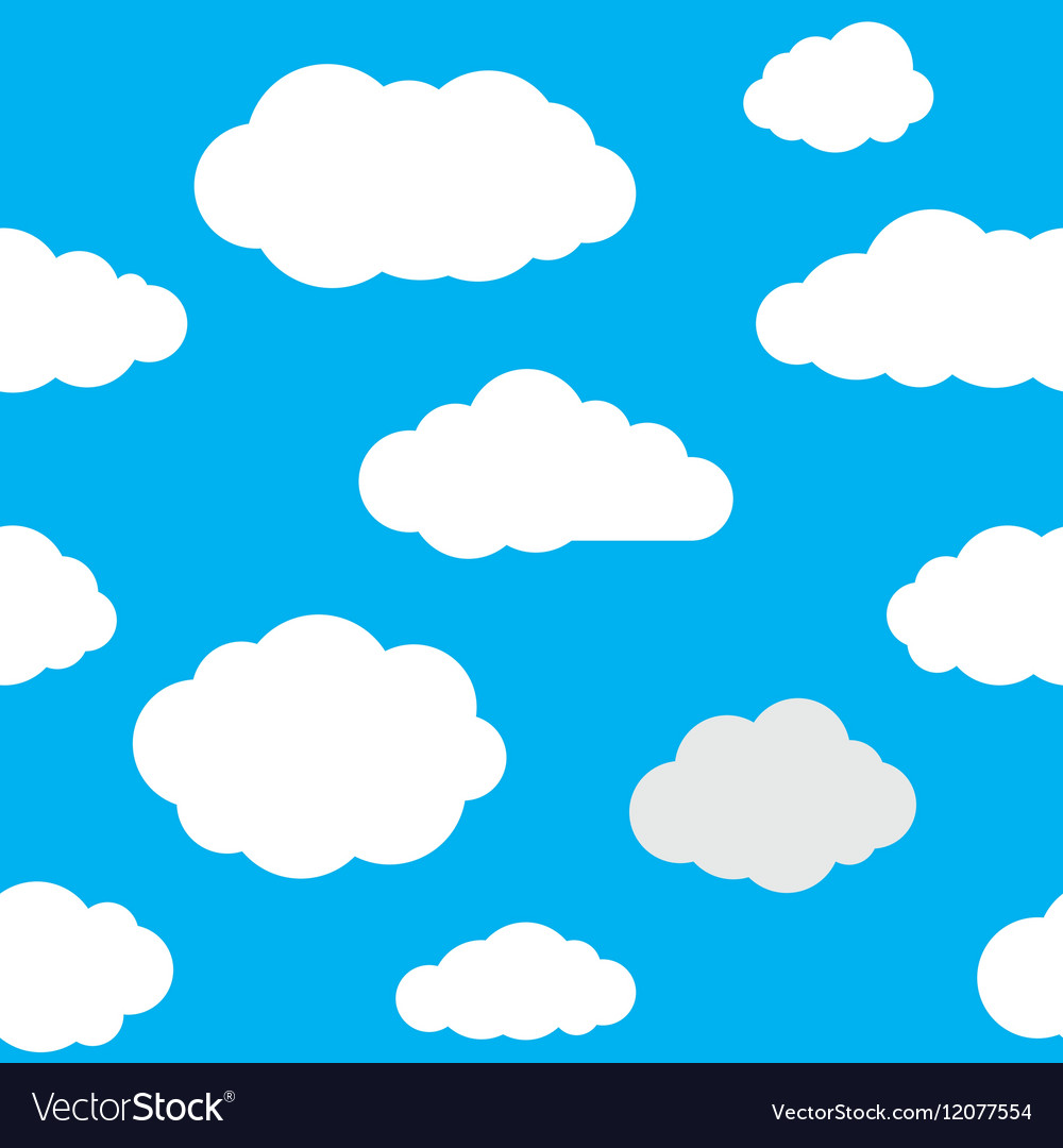 Clouds Seamless Pattern Background