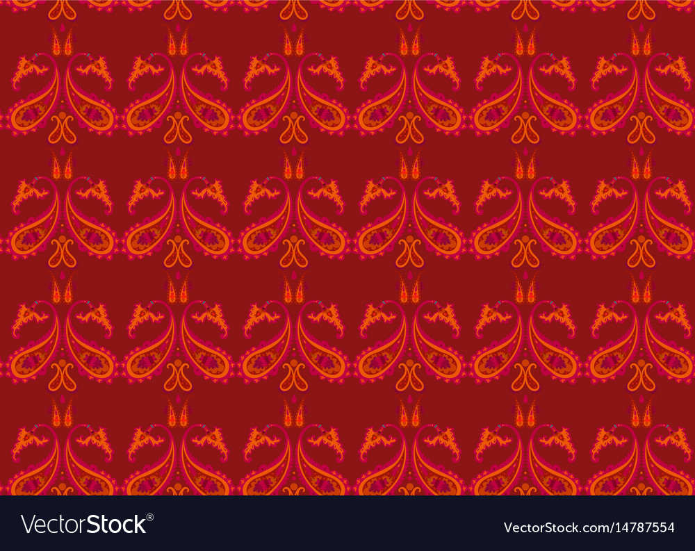 Creative beautiful decorative seamless pattern vector image